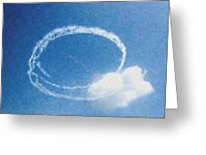 0036 - Air Show - Pastel Chalk Greeting Card