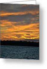 004 Awe In One Sunset Series At Erie Basin Marina Greeting Card