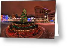 004 Christmas Light Show At Roswell Series Greeting Card