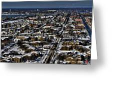 0042 After The Nov 2014 Storm Buffalo Ny Greeting Card