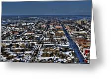 0043 After The Nov 2014 Storm Buffalo Ny Greeting Card