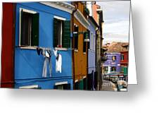 0049 Burano Colors 4 Greeting Card
