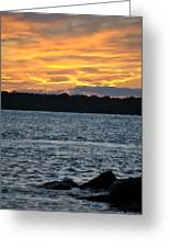 005 Awe In One Sunset Series At Erie Basin Marina Greeting Card