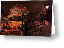 005 Christmas Light Show At Roswell Series Greeting Card
