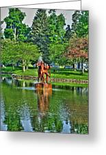 005 Reflecting At Forest Lawn Greeting Card