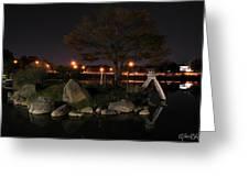 006 Japanese Garden Autumn Nights   Greeting Card