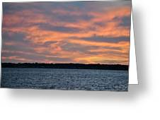 007 Awe In One Sunset Series At Erie Basin Marina Greeting Card