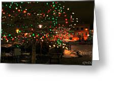 007 Christmas Light Show At Roswell Series Greeting Card