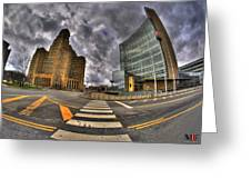 007 City Hall And The Court House Greeting Card