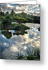 007 Delaware Park Japanese Garden Mirror Lake Series Greeting Card