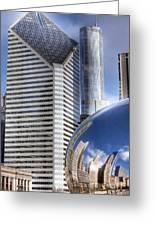 0077 Millennium Park Chicago Greeting Card