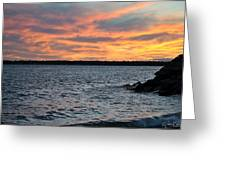 008 Awe In One Sunset Series At Erie Basin Marina Greeting Card