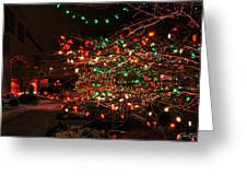 008 Christmas Light Show At Roswell Series Greeting Card