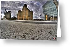 008 Entering The Traffic Circle Of Niagara Square Greeting Card