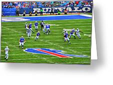 009 Buffalo Bills Vs Jets 30dec12 Greeting Card