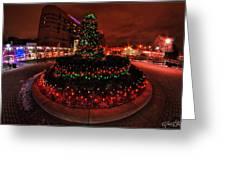 009 Christmas Light Show At Roswell Series Greeting Card