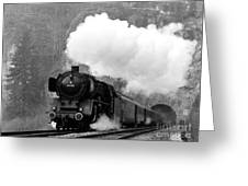 01 150 On Tracks In Franconia Greeting Card