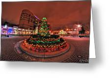 012 Christmas Light Show At Roswell Series Greeting Card