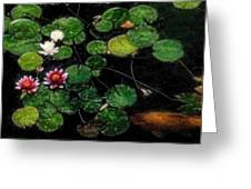0148-lily -   Embossed Sl Greeting Card