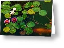 0148-lily -  Expressionist Plein Air Sl Greeting Card