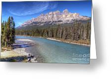 0149 Castle Mountain Greeting Card