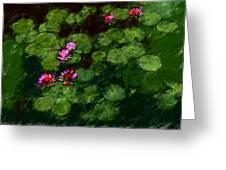 0151-lily - Chalk 1 Sl Greeting Card