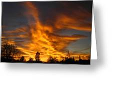 02 05 11 Sunset Two Greeting Card