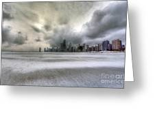0242 Wintry Chicago Greeting Card