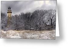 0243 Grosse Point Lighthouse Evanston Illinois Greeting Card
