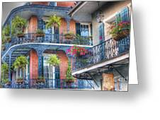 0255 Balconies - New Orleans Greeting Card