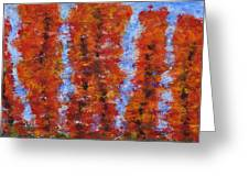 026 Red Trees Greeting Card