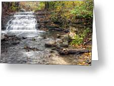 0278 South Elgin Waterfall Greeting Card