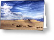 0292 Death Valley Sand Dunes Greeting Card