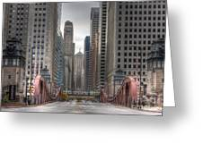 0295 Lasalle Street Chicago Greeting Card