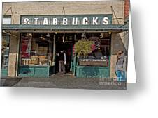 0370 First Starbucks Greeting Card