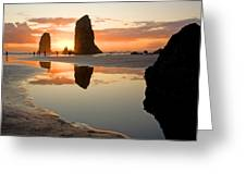 0385 Cannon Beach Reflection Greeting Card