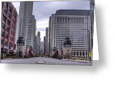 0500 Lasalle Street Bridge Chicago Greeting Card
