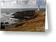 0513  Yaquina Lighthouse Greeting Card