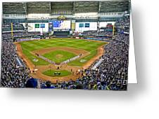 0546 Nlds Miller Park Milwaukee Greeting Card by Steve Sturgill