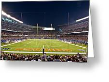 0587 Soldier Field Chicago Greeting Card by Steve Sturgill