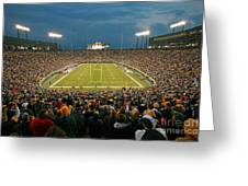 0615 Prime Time At Lambeau Field Greeting Card