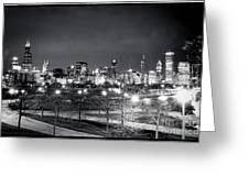 0647 Chicago Black And White Greeting Card