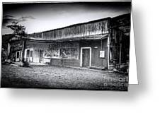 0706 Jerome Ghost Town Black And White Greeting Card