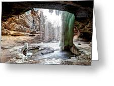 0938 Lasalle Falls - Starved Rock State Park Greeting Card