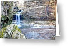 0940 Cascade Falls - Matthiessen State Park Greeting Card