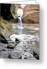 0941 Cascade Falls - Matthiessen State Park Greeting Card