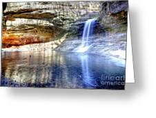 0943 Cascade Falls - Matthiessen State Park Greeting Card