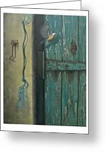 0ld Door Greeting Card by Steven Wood