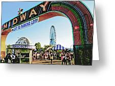 Midway Fun And Excitement  Greeting Card