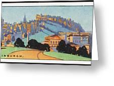 Edinburgh  General View        Date Greeting Card